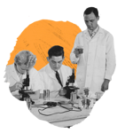 scientists-analyzing-observing