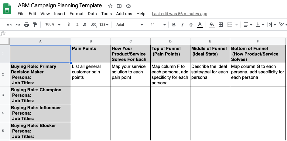 ABM Campaign Planning Template